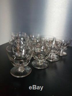 10 Anciens Verres à liqueur/porto en Cristal De BACCARAT Signés Modèle Périgord