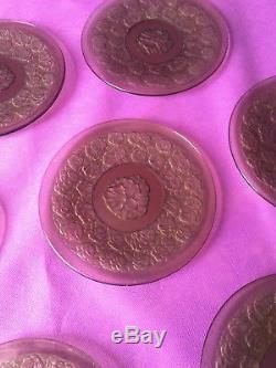 10 Ravissantes Assiettes Ancienne France Dans Le Goût De Lalique, Daum, Verlys