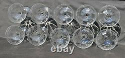 10 coupes à champagne anciennes verre soufflé gravé Vierzon Thouvenin Portieux