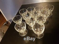 12 Anciens Verres à liqueur Cristal De BACCARAT Signés Modèle Périgord old glass