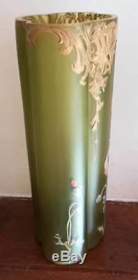 13689 Ancien vase art nouveau style Legras Bon Etat