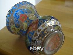 1 ANCIEN VASE ART NOUVEAU DESIGN FRITZ HECKERT JODHPUR Islamic Style ht 12 cm