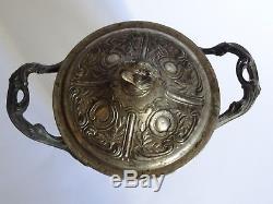 1 Ancien Pot A Biscuit Verrerie Legras Modele Decor Gui Emaille Style Lachenal
