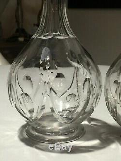 2 Anciennes Carafes Cristal Saint Louis Modele VIC