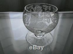 2 Anciens Verres A Eau Cristal Baccarat Modele Fontenay Art Deco
