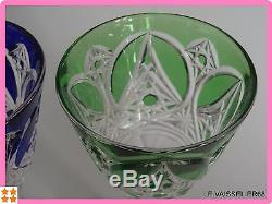 2 Anciens Verres A Vin De Couleur Roemer En Cristal Baccarat Art Deco