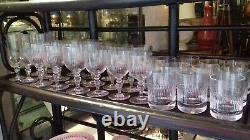 32 Verres Ancien Cristal Baccarat Model Renaissance