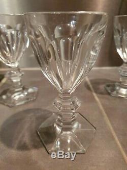 3 verres a vin anciens en cristal de Baccarat, modèle Harcourt