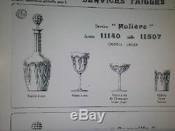 4 Anciens Verres A Eau Cristal Baccarat Modele Moliere Catalogue 1916