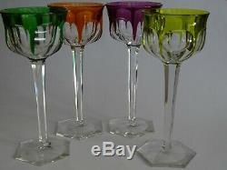 4 Anciens Verres A Vin Couleur Roemer Cristal Baccarat Modele Malmaison