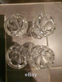 4 verres à vin anciens en cristal de Baccarat, modèle Harcourt