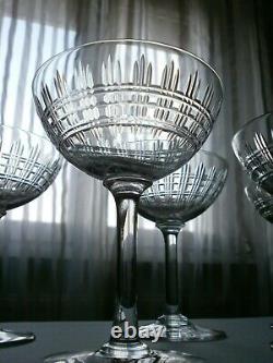 5 Anciennes Coupes A Champagne Cristal Baccarat Modele Cavour Catalogue 1916