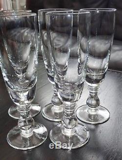 5 Anciens Et Tres Grands Verres A Absinthe Hauteur 24,3 Cms
