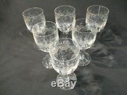 6 Ancien Verre A Vin A Eau Souffle Guilloche Modele Emma Wine Glass Weinglas