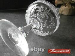 6 Anciennes Coupes A Champagne Cristal Baccarat Modele Fougeres Catalogue 1907
