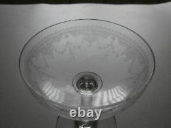 6 Anciennes Coupes A Champagne En Cristal Baccarat St Louis Epoque 1920