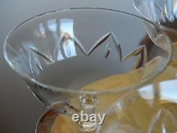 6 Anciennes Coupes A Champagne Ou A Glace En Cristal De Daum France