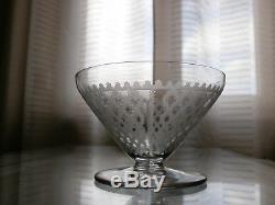 6 Anciennes Coupes En Cristal Baccarat Modele Alhambra Epoque Art Deco