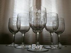 6 Anciens Verres A Eau En Cristal Baccarat Modele Sevigne Catalogue 1916