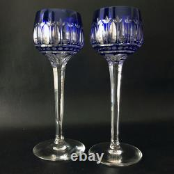 6 Verres Anciens A Vin Blanc / Roemer Cristal Couleur