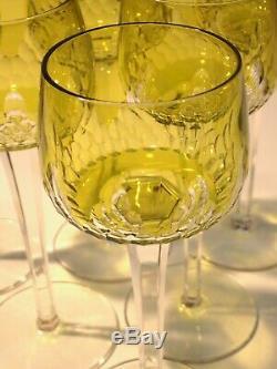 6 anciens verres a vin du rhin baccarat HAUTEUR 19,8 CMS