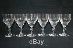6 verres à eau anciens en cristal de Baccarat modèle Richelieu H 15.5 cm