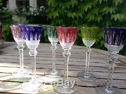 6 verres à liqueur en cristal Saint Louis Tommy anciens
