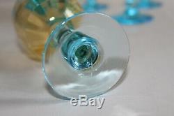 6 verres à vin anciens, George Sand cristallerie de Portieux H 11.5 cm