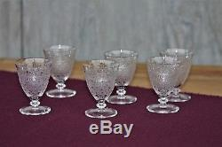 6 verres à vin cuit en cristal de Baccarat Chateaubriand gravure Rohan anciens