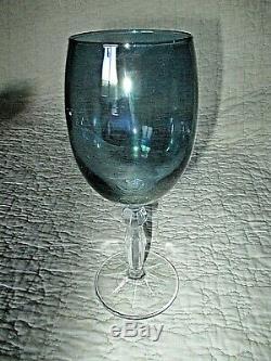 6 verres anciens à vin-bohème-en couleur-à pieds-facettes et biseau-vintage 1950