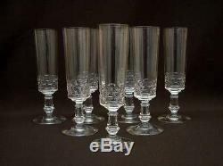 7 FLUTES COUPES CHAMPAGNE ANCIENNE XIXe TAILLEES