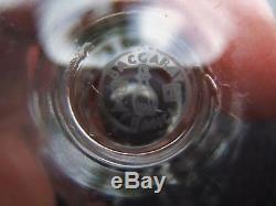 7 anciens Verres à porto en cristal taillé de Baccarat modèle Talleyrand signé