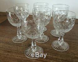 7 verres a vin, très anciens en cristal de baccarat