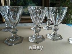 8 Verres A Vin blanc Cristal BACCARAT MODELE HARCOURT Ancien XIXème