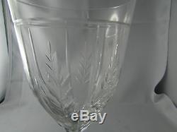 8 anciens verres a vin a eau cristal taillé art deco 1940 st louis feuille