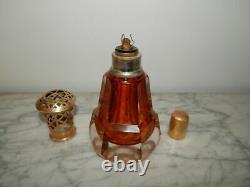 ANCIENNE LAMPE BERGER en CRISTAL St Louis ou Baccarat