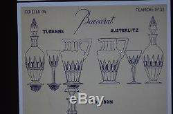 ANCIEN 11 verres COUPES A DIGESTIF TAILLE BACCARAT MODELE AUSTERLITZ TURENNE
