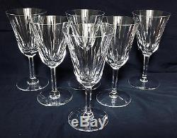 ANCIEN 6 verres à vin en cristal TAILLE ST. LOUIS BACCARAT CERDAGNE SIGNE CACHET