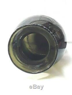 ANCIEN BOCAL A TRUFFES EN VERRE SOUFFLE -TRACE DE PONTIL 18 éme H 25. 5 cm
