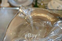 ANCIEN Grand Vase Coupe En Cristal Massif De VAL ST. LAMBERT signe