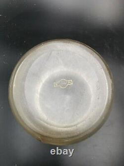 ANCIEN SEAU à BISCUITS en VERRE dégagé à l'ACIDE VICTOR SAGLIER cookie bucket