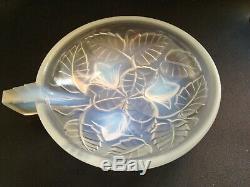 ARVERS, ANDRE DELATTE 11 anciennes coupelles, Art Déco, verre opalescent
