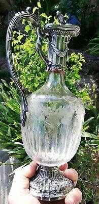 Aiguière Cristal Ancienne 19é