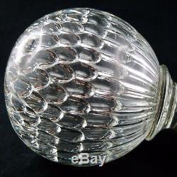 Ancien BOULE D'ESCALIER Cristal Nid d'Abeille BACCARAT crystal stair ball/19th