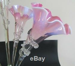 Ancien Canneberge Verre Grand Epergne cranberry glass victorian