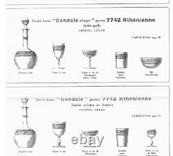 Ancien Carafe A Vin Cristal Grave Degage L'acide Modele Athenienne Baccarat 1916