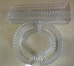 Ancien Chemin Centre de table Jardiniere modulable cristal Baccarat Bambou Tors