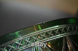 Ancien Coupe Saladier Centre De Table En Cristal Double Couleur St. Louis 1908