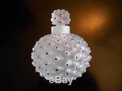 Ancien Flacon Parfum Cristal Lalique France Modele Cactus Art Deco