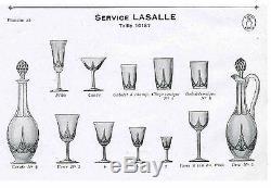 Ancien Grand 7+1 Verre En Cristal Taille St. Louis (baccarat) Modele Lasalle